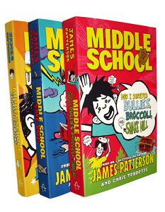 Middle-School-Madness-James-Patterson-3-Books-Kids-Children-Fiction-No-4-5-6-New