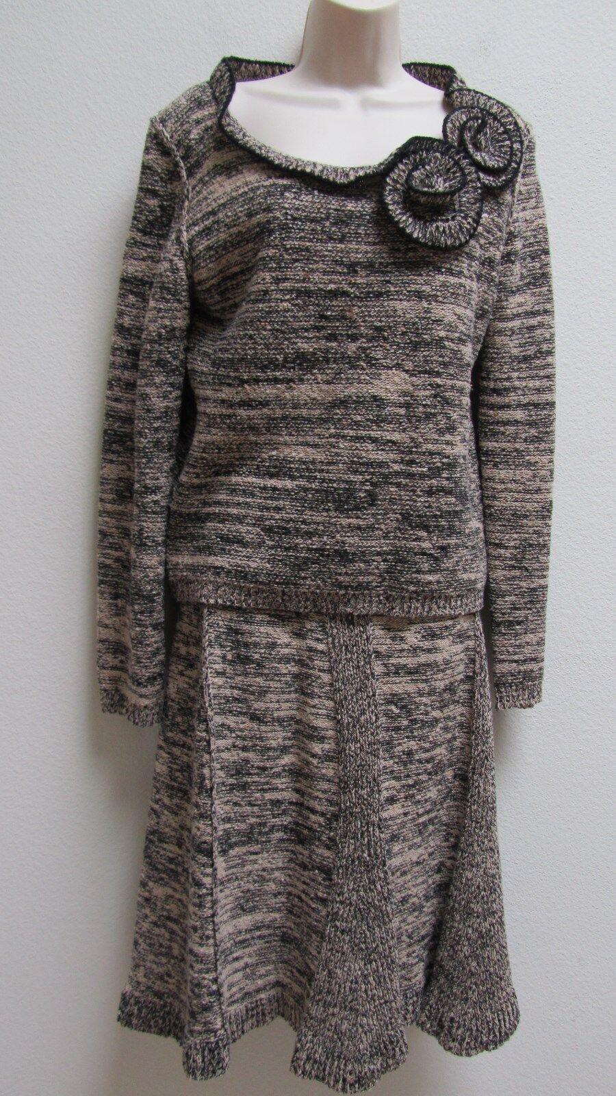 SONIA RYKIEL Knite Top och kjol Suit Set Sz 44.Italien