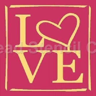"""* PRIMITIVE STENCIL ITEM #5352 I ~10""""x10""""~  LOVE"""