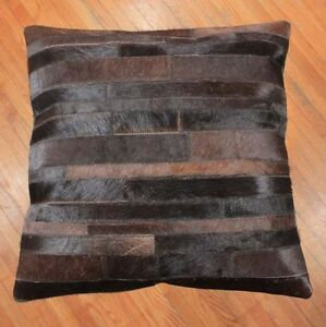 New-Cowhide-Pillow-Cover-Hair-On-Leather-Patchwork-Cushion-Cow-Hide-Western-P22