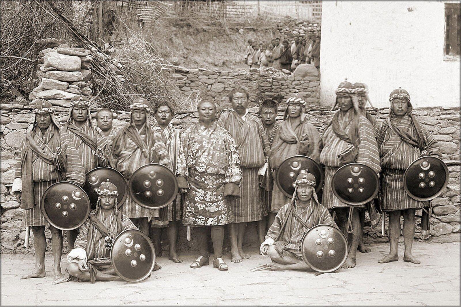 Poster, Many Größes; Sir Ugyen Wangchuk & His Bodyguards, Tongsa Dzong In Bhutan,
