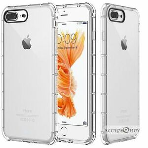 For Iphone  6 / 6S / 7 Plus / 8 Plus / SE Case Clear Bumper Protective TPU Cover