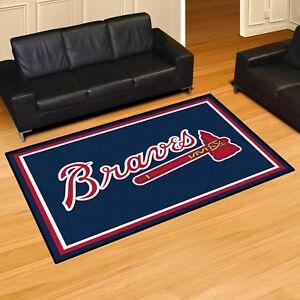 Image Is Loading Atlanta Braves 5 039 X 8 Decorative