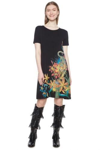 Desigual Black Lion /& Flower Design Agra T-shirt Dress XS-XXL UK 8-18 RRP £64