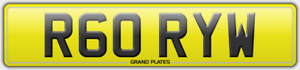R60-RYW-NUMBER-PLATE-RORY-W-REGISTRATION-ASSIGNED-OR-DELIVERED-RORY-039-S-REG-NO-FEE