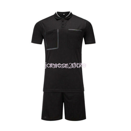 Men/'s Adult Youth Soccer Football Short Sleeve Shirts  Referee Jersey Uniforms