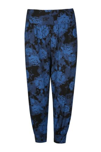 Womens Ladies Floral Print 3//4 Harem Cropped Ali Baba Bottom Trousers Pants 8-26