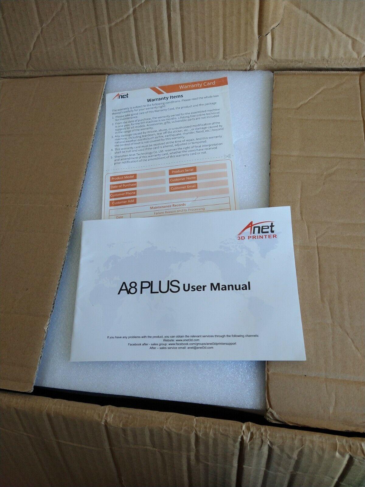 Anet A8 Plus Upgraded High-precision DIY 3D Printer 300*300*350mm