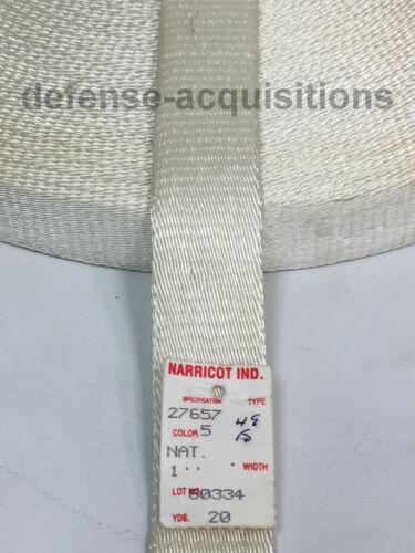 1 INCH MilSpec Parachute Deceleration Webbing Woven Nylon MIL-W-27657 PER YARD