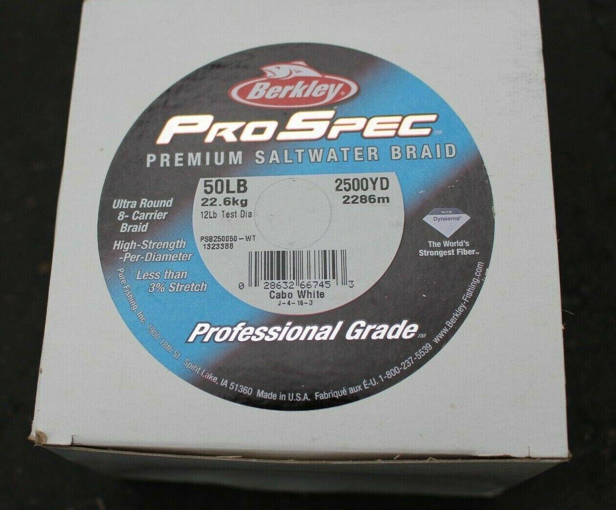 BERKLEY PROSPEC PREMIUM SALTWATER BRAID 50LB 2500YD PROFESSIONAL GRADE PRO SPEC