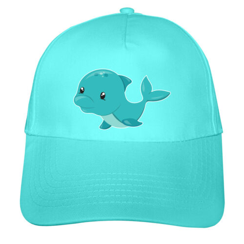 Samunshi Kinder Kappe Niedlicher Delfin Mütze Cap Kindermütze  8 Farben One Size