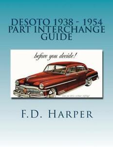 Auto Parts Interchange >> Details About Desoto 1938 1954 Part Interchange Manual Find Identify Original Auto Parts New