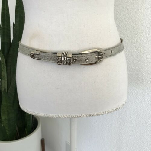 BB Simon Geniune Leather Silver Mesh Metal Belt Si