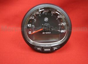 Mercury SmartCraft SC1000 Speedometer 80 mph Black P/N# Boat Parts