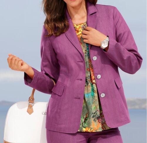 Camicette giacca giacca giacca estate giacca leggero COTONE FUXIA TG. 50 NUOVO