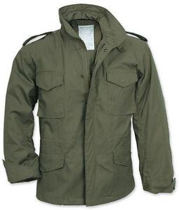 L-039-M65-US-MILITARY-FIELD-JACKET-ESERCITO-COMBATTIMENTO-OLIVA-FODERA-da-Uomo-Vintage-Cappotto