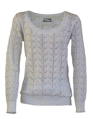 NEU Damen Pullover Sweater  XS S M L XL 2XL 3XL STrickpullover Pulli Longsleeve