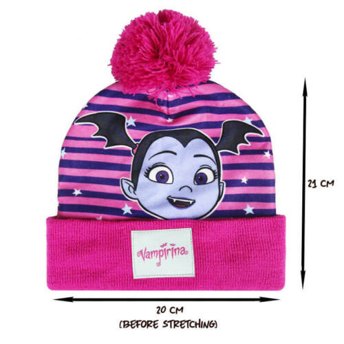 VAMPIRINA pompom hat and gloves set Bobble hat Vampirina and gloves for children