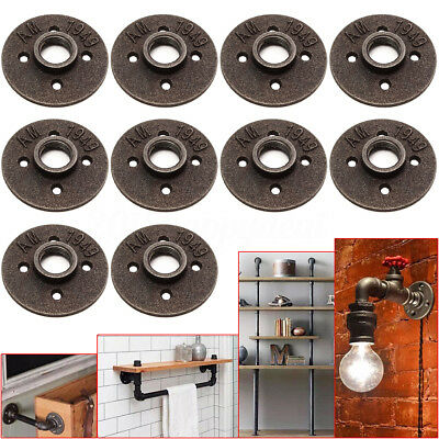 10Pcs 3/4'' Black BSP Thread Malleable Iron Floor Flange Fitting Pipe Wall  Mount   eBay