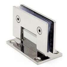 Stainless Steel Bathroom Clamp Door Hinges Folding Glass Clip 90 Degrees