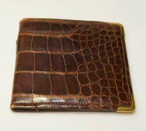 VTG-Mark-Cross-Genuine-Aligator-Bifold-wallet-with-solid-14k-yellow-gold-corners
