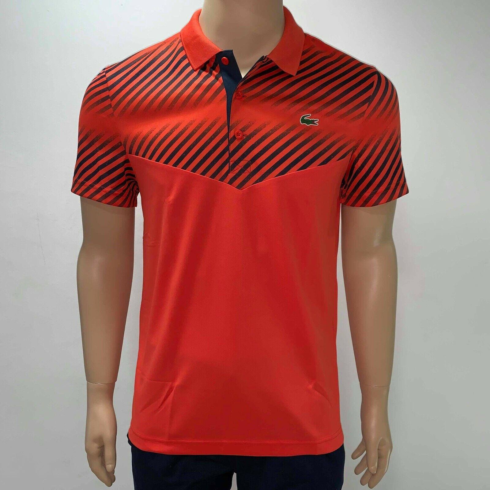Lacoste Sport Tennis Collared Shirt Orange FR2 XS