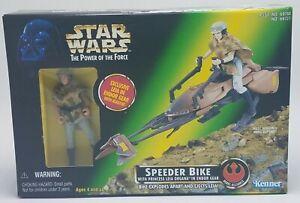 Star-Wars-POTF-Speeder-Bike-with-Leia-in-Endor-Gear-1997-Kenner-New