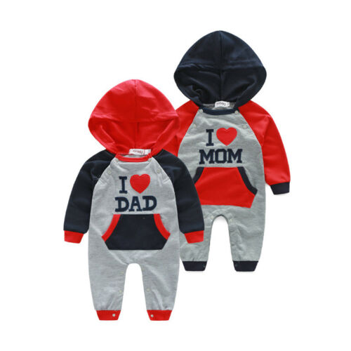 CA Newborn Baby BoyGirl Hooded Romper Bodysuit Jumpsuit Playsuit Outfits Clothes