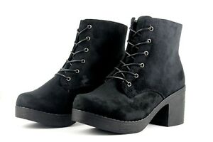 01ffb6c3ebdb Truffle Collection Womens UK 7 EU 40 Black Faux Suede Block ...