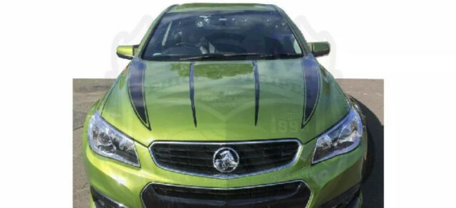 Sticker Muscle V2 Bonnet Decal Stripe Kit to fit VF Commodore - Avery Wrap Vinyl