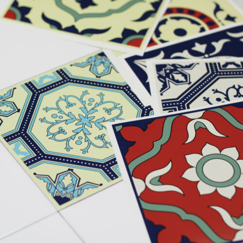Vintage Tile Stickers Transfers Traditional Kitchen 150mm /& 100mm Available AT1