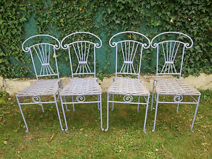 4 Chaises En Fer Forger Sxqhffnx-10042423-229017569