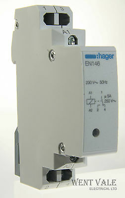 Hager EN146-230//250 vac Interface or Changover Relay 230 vac coil New in Box