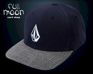 c63d50200e350 New Volcom Full Stone Heather Blue Gray Flex fit Mens Cap Hat