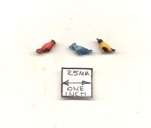 Black Crow Bird dollhouse miniature EPMC148 1//12 scale animal