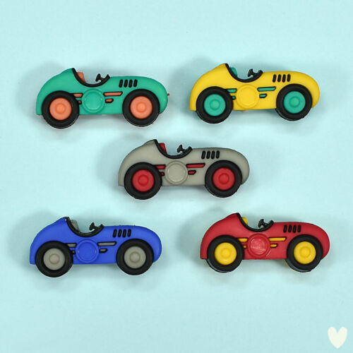 Racing Cars Sports DRESS IT UP Buttons Speed Racers 10409