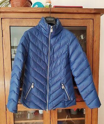 Lisa Campione leichte Damen Steppjacke Blau 90% daunen Gr:34 XS daunenjacke | eBay