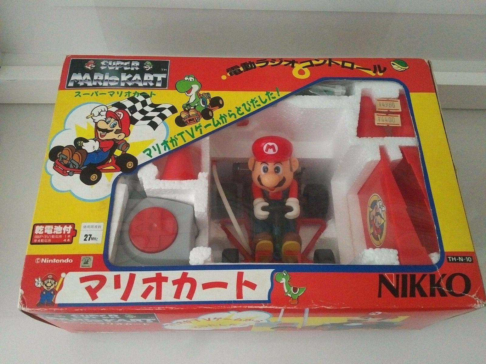 Super Mario Kart Snes NES Bros Nikko de control remoto RC coche 1991 Nuevo Raro Juguete Gem