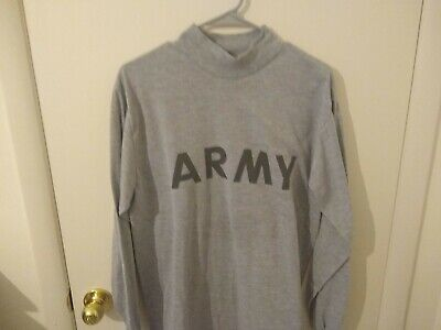 Army White Men/'s Long Sleeve T-shirt United States Military 1276P