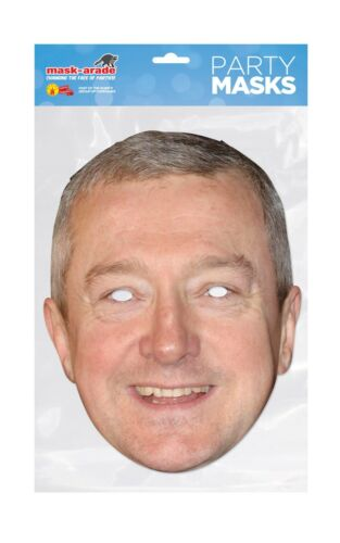 Louis Walsh Face Party Mask Card A4 Fancy Dress TV Music X Factor Ladies Kids