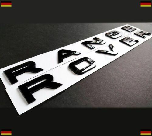 Emblem Schriftzug Buchstaben Aufkleber sticker schwarz-glänzend Range Rover