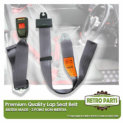 Adjustable 2 Point Lap Seat Belt for Fiat 127 Panorama Safety Strap In Black