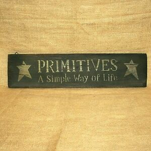 Primitives-A-Simple-Way-Of-Life-Wood-Sign-Rustic-Country-Wall-Decor-21-034