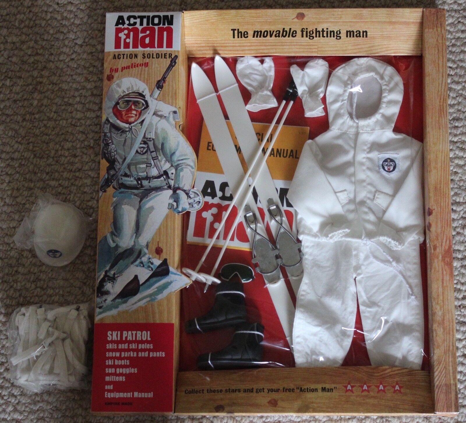 Vintage Action Man 40th Anniversary Ski Patrol Carte Boxed
