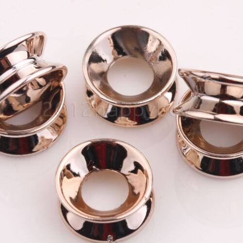 25//50PCS Rose Gold//Silver Big Hole Spacer Loose Beads 12x6mm Jewelry Making
