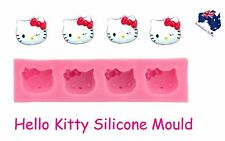 Hello Kitty Cat Chocolate Fondant Ice Silicone Mould Mold  Cake Topper