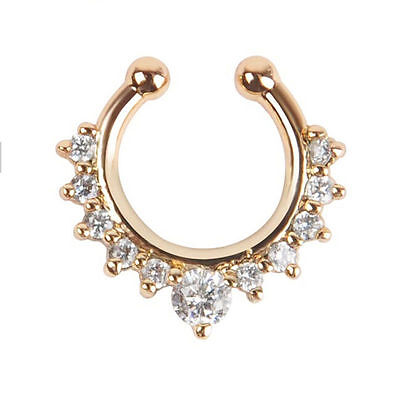 1pcs Stainless Steel fake Nose ring Hoop Ring septum Body Piercing Stud Jewelry