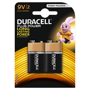 10x Duracell Plus Power Batterie 9V E-Block 6LR61 MN1604 6AM6 6LR61 Transistor