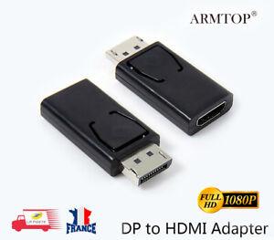 Display-port-DP-male-vers-HDMI-Adaptateur-convertisseur-femelle-pour-HDTV-PC-MAC