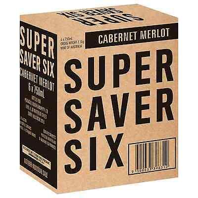 Super Saver Six Cabernet Merlot case of 6 Dry Red Wine 750mL